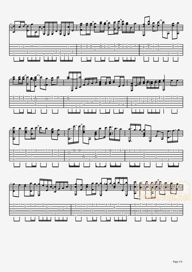 飘雪吉他谱第4页